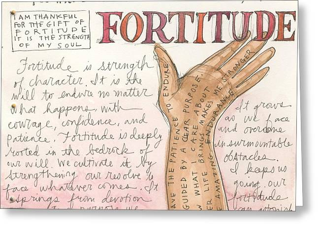 Fortitude Greeting Card by Jennifer Mazzucco