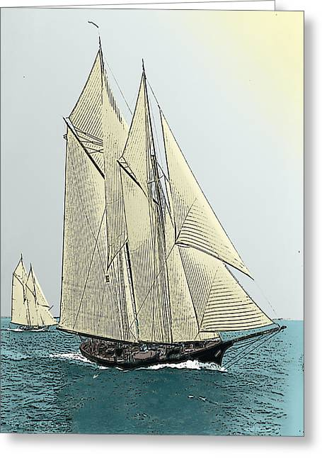 Fortuna - Schooner Yacht Greeting Card