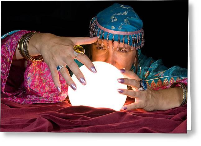Fortune Teller And Crystal Ball by Joe Belanger