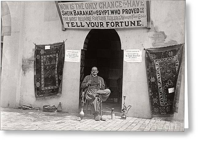 Greeting Card featuring the photograph Fortune Teller San Francisco Exposition 1894 by Martin Konopacki Restoration