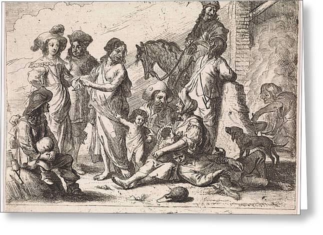 Fortuneteller, Cornelis De Wael Greeting Card by Cornelis De Wael