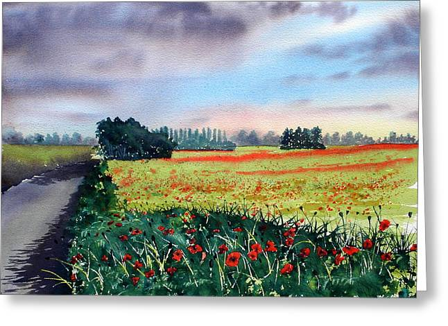 Forty Acre Field Near Easingwold Greeting Card