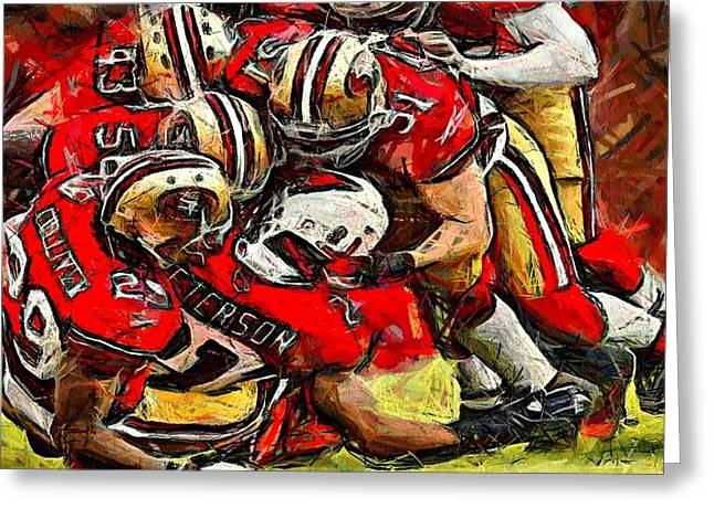 Forty Niners Greeting Card by Carrie OBrien Sibley