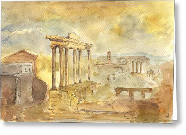 Forum Romano Greeting Card