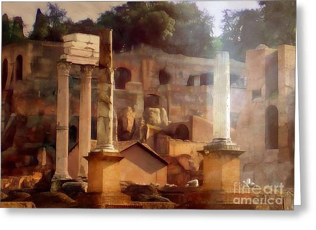 Forum Romanum Greeting Card by Lutz Baar