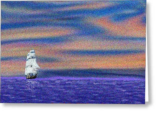 Forward To New Lands Greeting Card by Dr Loifer Vladimir