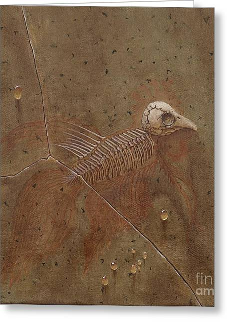 Fossil Bones I Greeting Card by Fred-Christian Freer