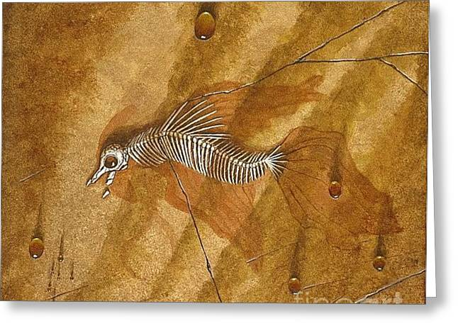 Fossil Bones II Greeting Card by Fred-Christian Freer