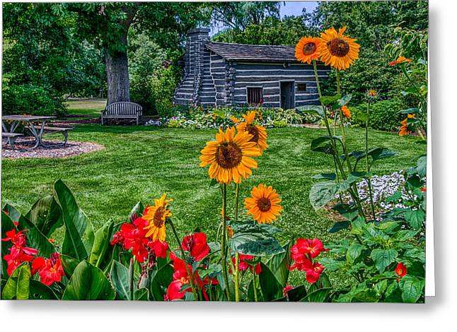 Foster Park Fort Wayne Indiana Greeting Card by Gene Sherrill