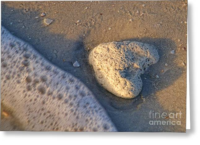 Found Heart Greeting Card by Peggy Hughes