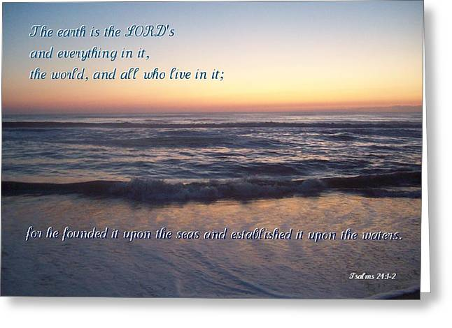 Founded Upon The Seas Greeting Card by Paula Tohline Calhoun