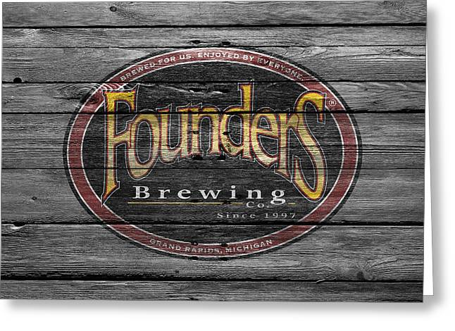 Founders Brewing Greeting Card by Joe Hamilton