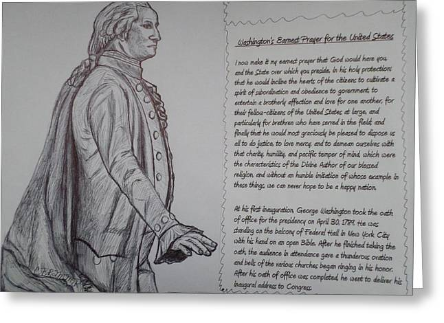 Founding Fathers Greeting Card by Christy Saunders Church