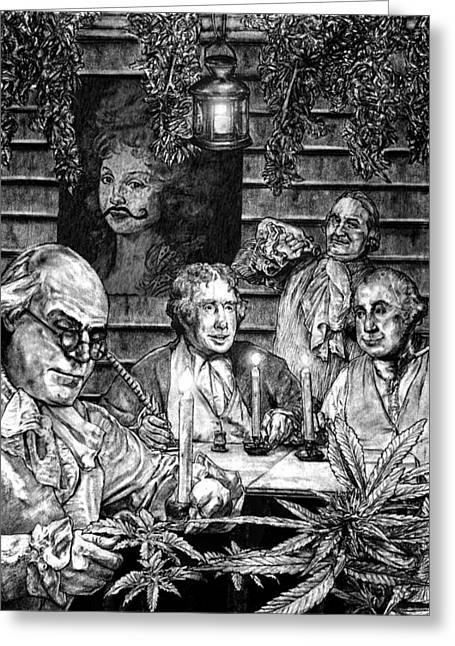 Founding Fathers Greeting Card by MH Heintz