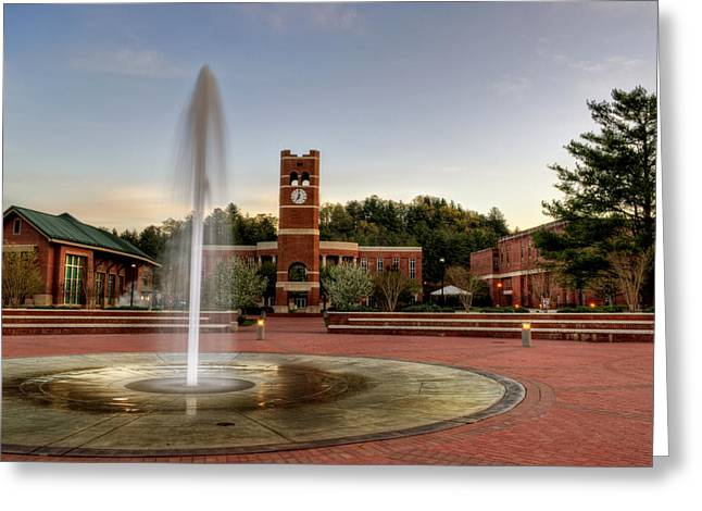 Fountain And Tower Greeting Card
