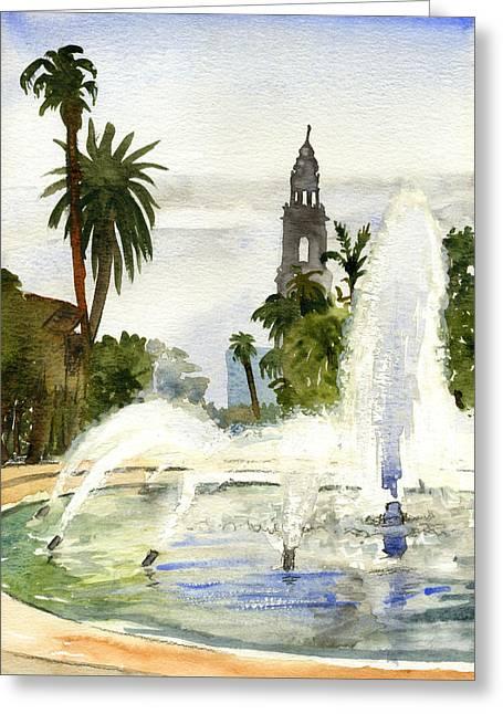 Fountain At Balboa Park Greeting Card