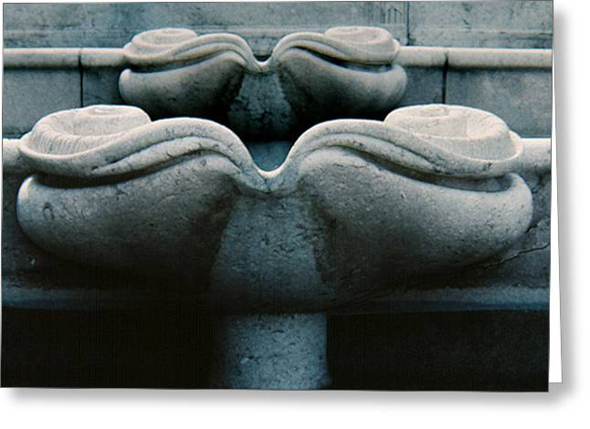 Greeting Card featuring the photograph Fountain Detail by Ben Kotyuk