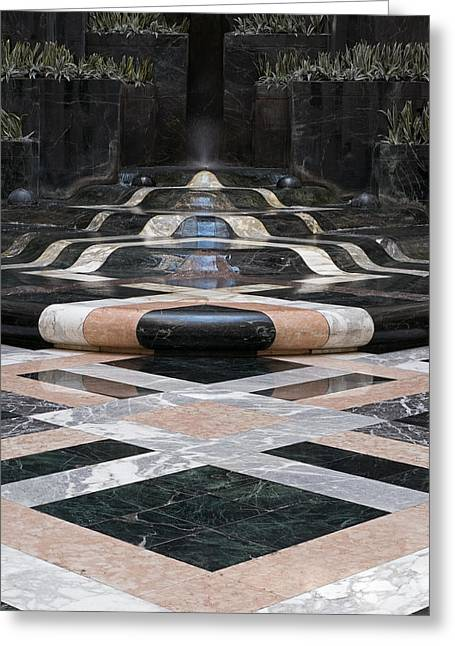 Greeting Card featuring the photograph Fountain Flow by Glenn DiPaola
