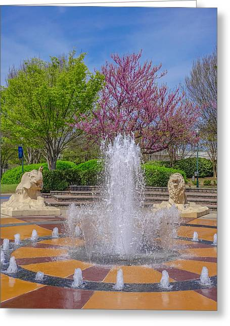 Fountain In Coolidge Park Greeting Card by Tom and Pat Cory