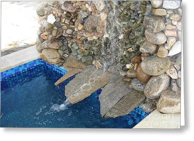 Fountain In The Yard Greeting Card by Nikolay Ilchevski