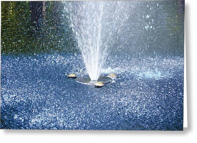 Fountain Greeting Card by Lanjee Chee