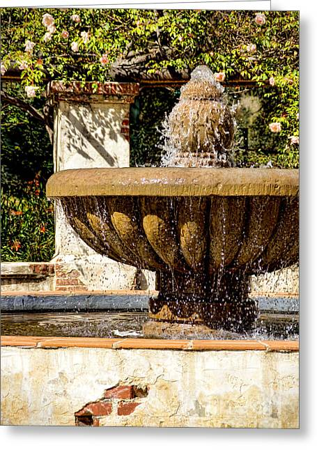Fountain Of Beauty Greeting Card by Peggy Hughes