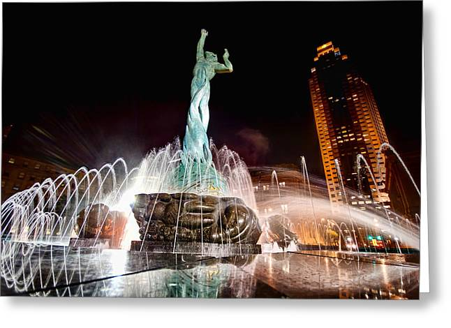 Fountain Of Eternal Life Greeting Card by Brent Durken