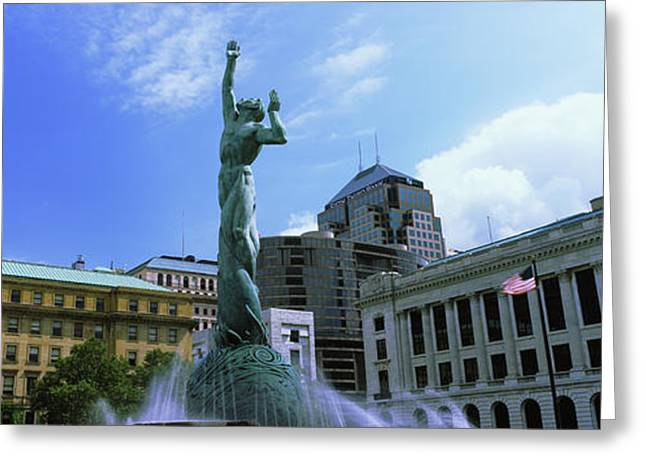 Fountain Of Eternal Life, Cleveland Greeting Card