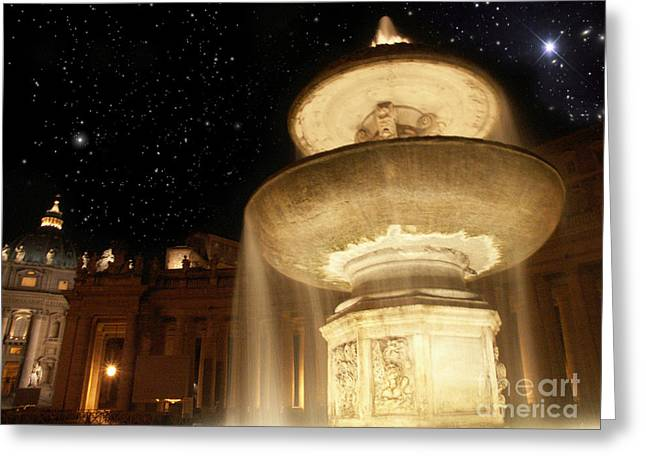 Fountain Of San Peter Greeting Card by Sandro Rossi