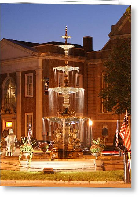 Fountain On Chambersburg Square Greeting Card by L Granville Laird