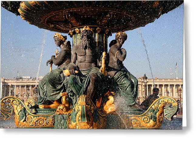 Fountain Place De La Concorde Greeting Card by Jacqueline M Lewis