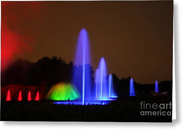 Greeting Card featuring the photograph Fountain Show At Longwood Gardens by Vadim Levin