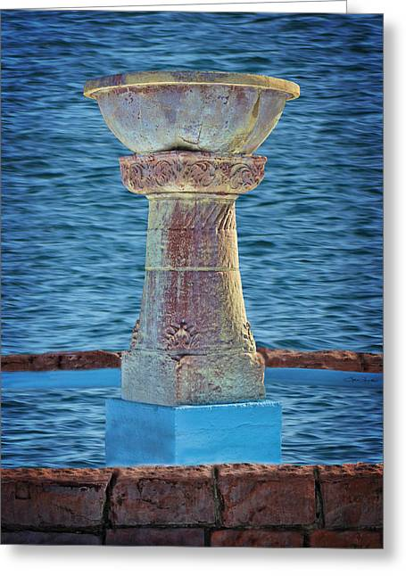 Fountain Greeting Card by Sylvia Thornton