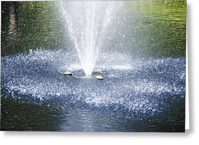 Fountain1 Greeting Card by Lanjee Chee