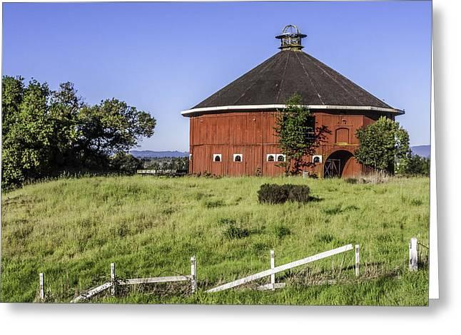 Fountaingrove Round Barn Greeting Card by Karen Stephenson