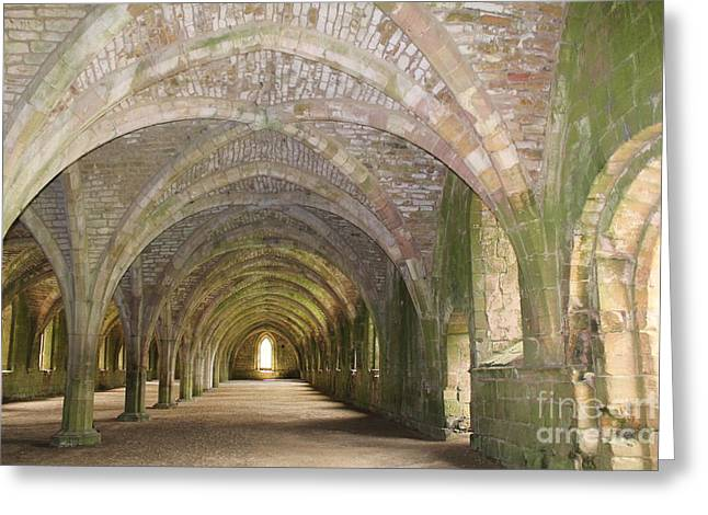 Fountains Abbey Cellarium  Greeting Card
