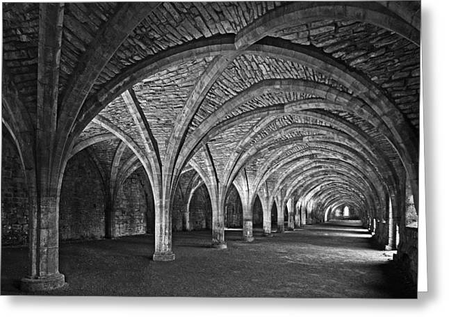 Fountains Abbey Cloister Greeting Card