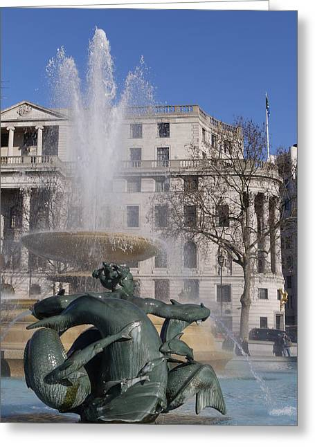 Fountains In Trafalgar Square Greeting Card