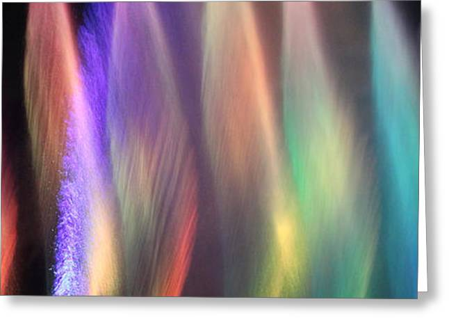 Fountains Of Color Greeting Card by James Eddy