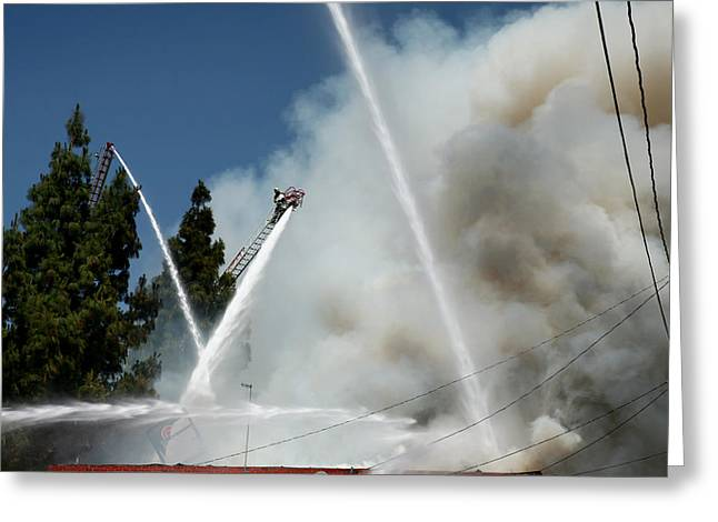 Four Alarm Blaze 003 Greeting Card