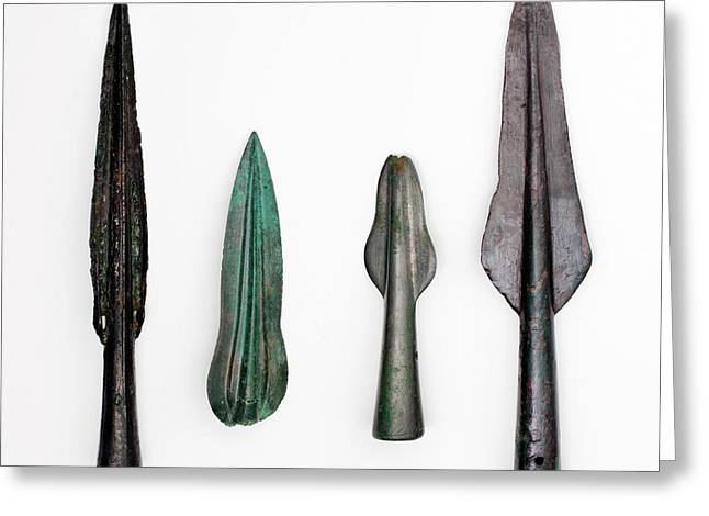 Four Bronze Age Spear Heads Greeting Card
