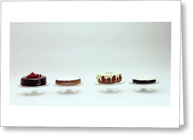 Four Cakes Side By Side Greeting Card