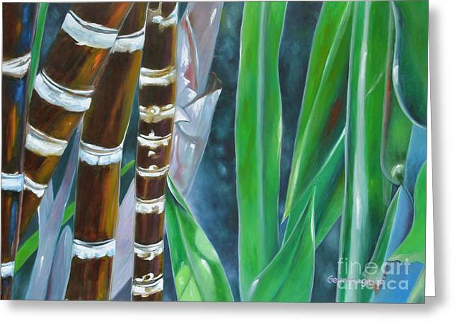 Four Canes For Green Greeting Card