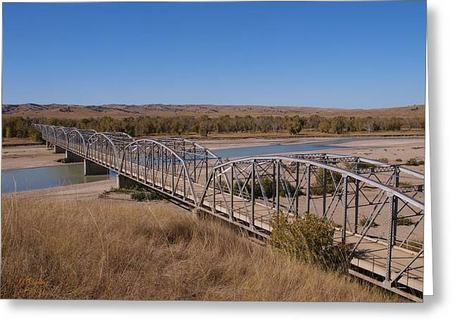 Four Corners Bridge Greeting Card