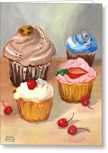 Four Cupcakes Greeting Card