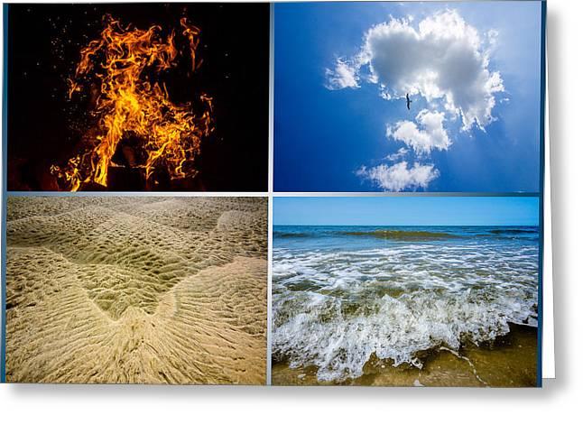 Four Elements Greeting Card by Martin Liebermann