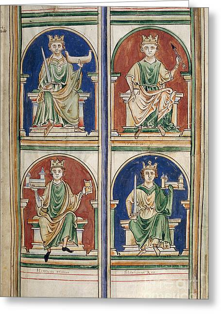 Four Kings Of England Greeting Card