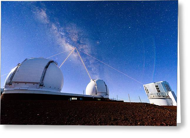 Four Lasers Attacking The Galactic Center Greeting Card