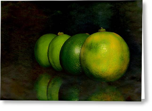 Four Limes Greeting Card