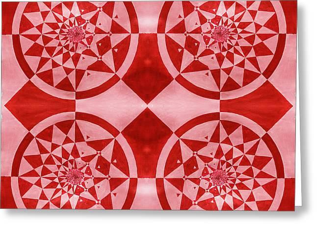 Four Mandalas Greeting Card by Sumit Mehndiratta